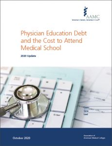 Physician Education Debt and the Cost to Attend Medical School: 2020 Update