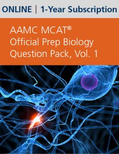 AAMC MCAT Official Prep Biology Question Pack, Volume 1 (Online) | 1-Year Subscription