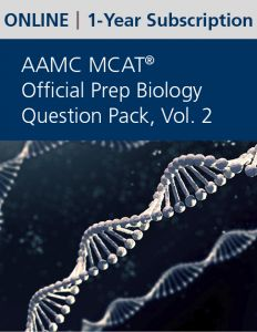 AAMC MCAT Official Prep Biology Question Pack, Volume 2 (Online) | 1-Year Subscription