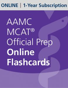 AAMC MCAT Official Prep Online Flashcards | 1-Year Subscription