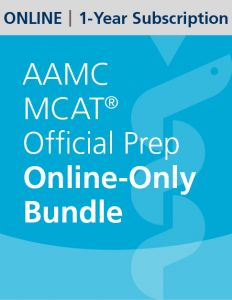 AAMC MCAT Official Prep Online-Only Bundle | 1-Year Subscription