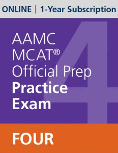 AAMC MCAT Official Prep Practice Exam Four (Online) | 1-Year Subscription