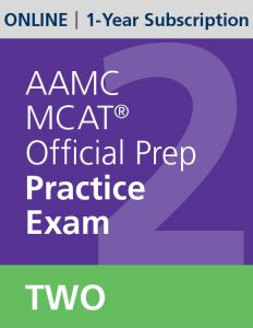 AAMC MCAT Official Prep Practice Exam Two (Online) | 1-Year Subscription