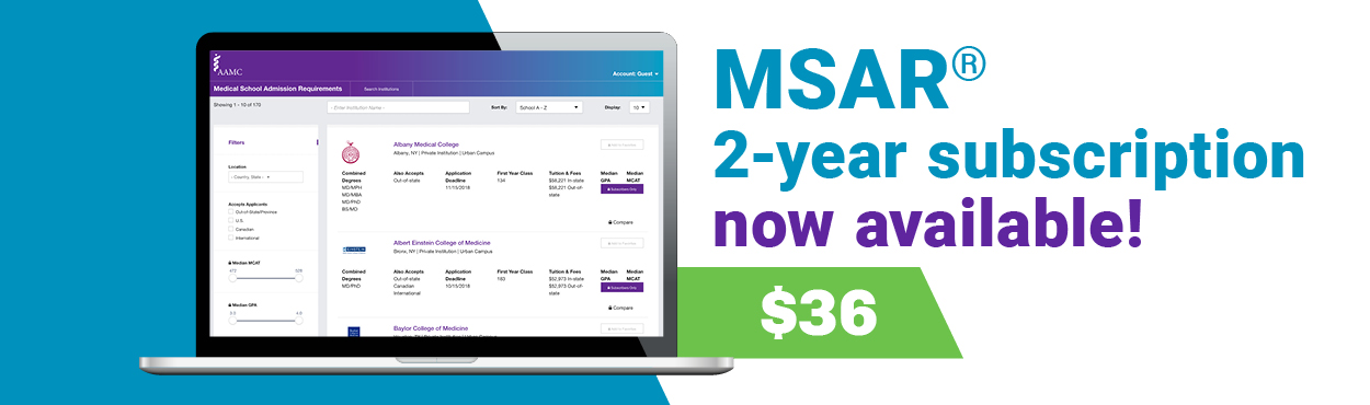 MSAR two year subscription