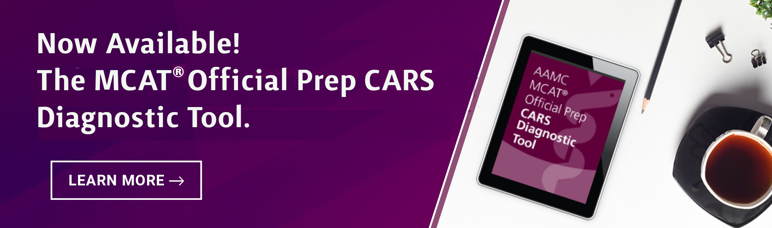 CARS product available for MCAT
