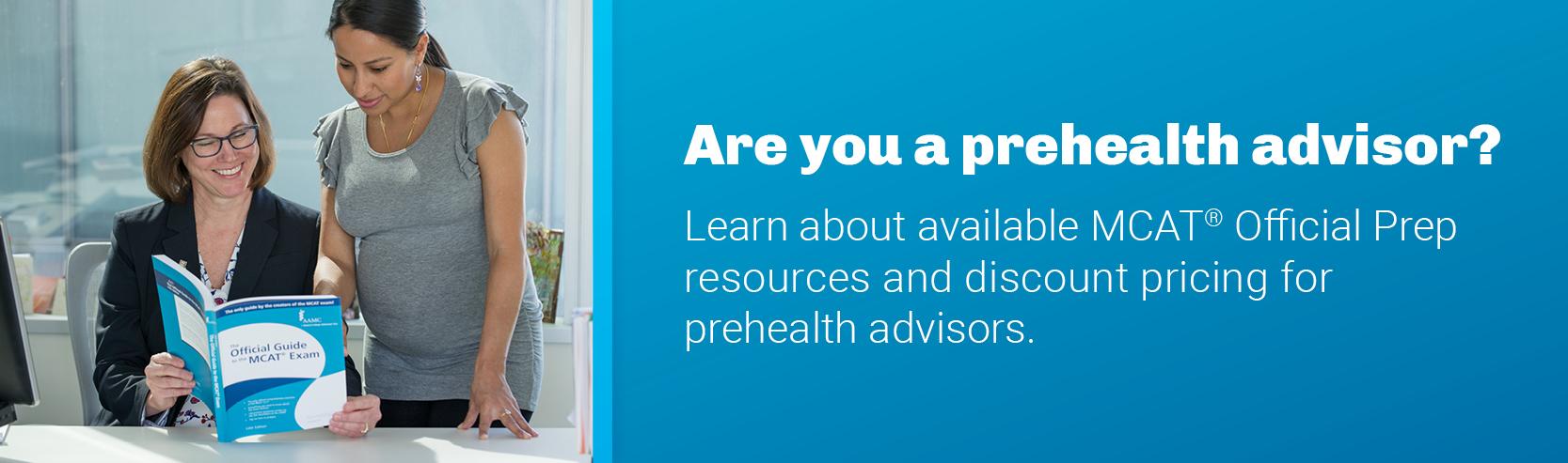 Are you a prehealth advisor?